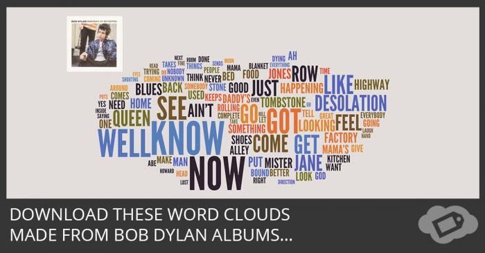 Bob Dylan Word Clouds